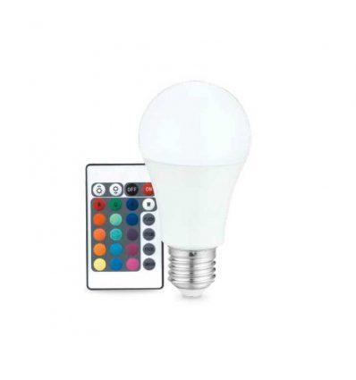 Estándar Led E27 RGB Multicolor con mando