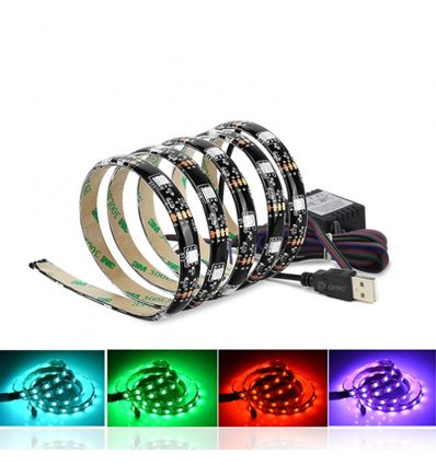 Tira de led 1 metro con USB RGB