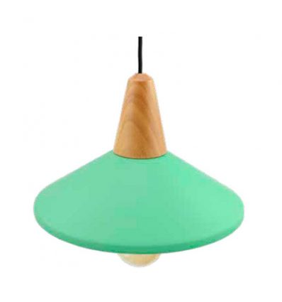 Lámpara colgante campana verde