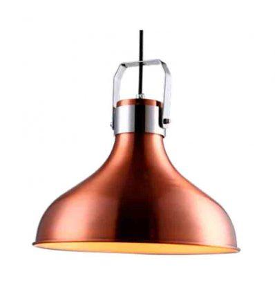 Lámpara colgante campana cobre