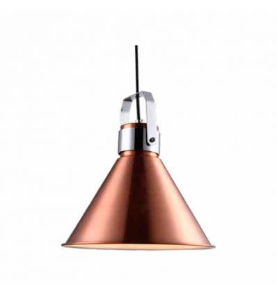 Lámpara colgante campana cobre recta