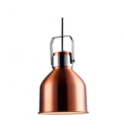 Lámpara colgante campana cobre estrecha
