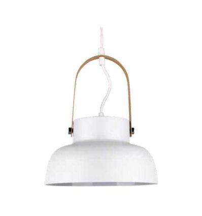 Lámpara colgante industrial blanca