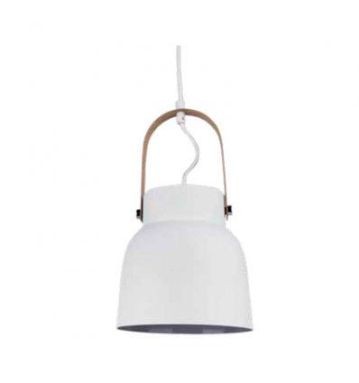 Lámpara colgante industrial blanca estrecha