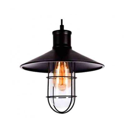 Lámpara colgante industrial con rejilla