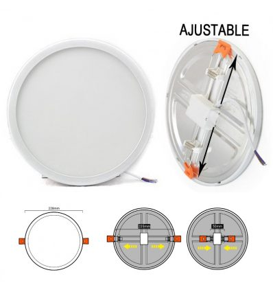 Downlight led 20W empotrable para corte de 50 a 205mm