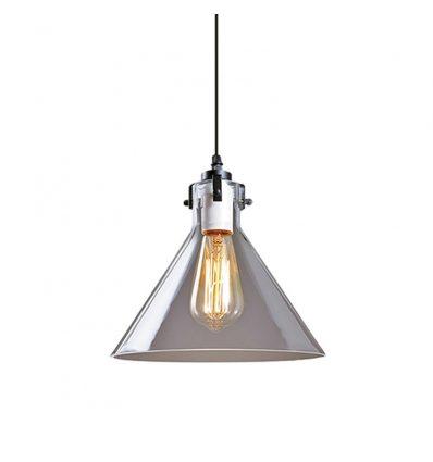 Lámpara colgante retro industrial Cristal Rústica