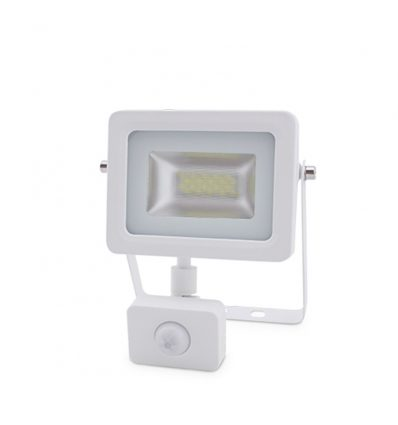 Proyector Led ultra fino blanco sensor de movimiento 10W-20W