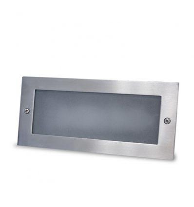 Aplique con led 5W aluminio empotrable Liso