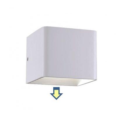 Aplique exterior pared con led de 3W cúbico