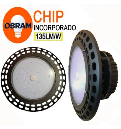 Campana led con Chip Osram UFO IP65 100W
