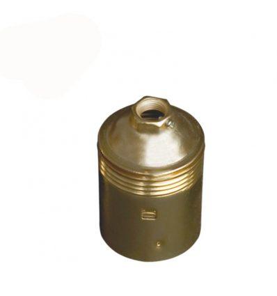 Portalámparas casquillo E27 metálico Oro