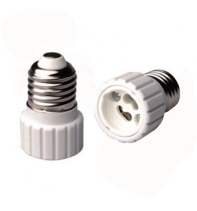 Adaptador de casquillo E27 a GU10