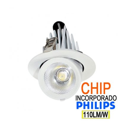Foco empotrable led orientable IP44 30W