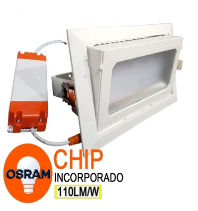 Downlight Led chip Osram Basculante 40W IP65