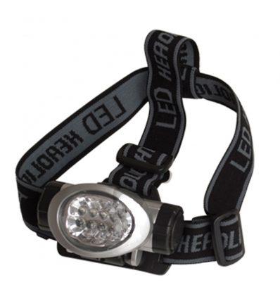 Linterna frontal led para la cabeza 8 Led y cintas ajustables