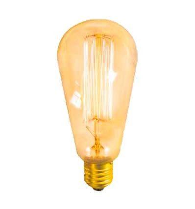 Bombilla Pera incandescente Vintage filamento retro 40W E27
