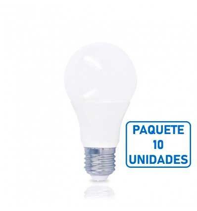 Bombilla estándar led E27 11W -Paquete 10 unidades-