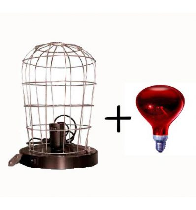 Estufa de infrarrojos con lampara