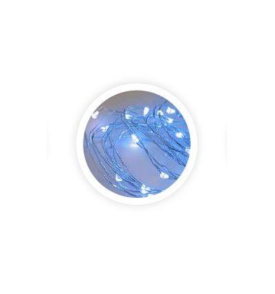 Guirnalda de alambre LED 10M 230V azul