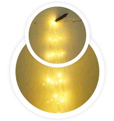 Nebulosa LED cálida 12 hilos 1m